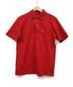 BURBERRY LONDON(バーバリーロンドン)の古着「ノヴァチェック切替ポロシャツ」|レッド