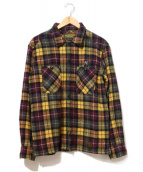 NEIGHBORHOOD(ネイバーフッド)の古着「チェックネルシャツ」|パープル×イエロー