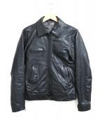 MONKEY TIME(モンキータイム)の古着「ラムレザージャケット」|ブラック
