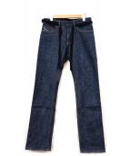 DIESEL BLACK GOLD(ディーゼルブラックゴールド)の古着「リジットデニムパンツ」|インディゴ