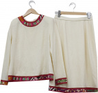 LEONARD(レオナール)の古着「ウールセットアップ」|アイボリー