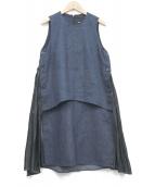 muller of yoshiokubo(ミュラー オブ ヨシオクボ)の古着「ノースリーブワンピース」|ブルー
