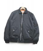 VAINL ARCHIVE(バイナルアーカイブ)の古着「Mil-Puff MA-1ジャケット」|ネイビー