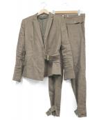 GUCCI(グッチ)の古着「バンブーポイントリネンセットアップスーツ」|ベージュ