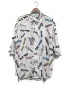 VOTE MAKE NEW CLOTHES(ヴォートメイクニュークローズ)の古着「半袖シャツ」|ホワイト