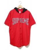 Supreme(シュプリーム)の古着「Hooded Baseball Top」|レッド