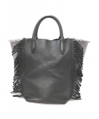 3.1 phillip lim(スリーワン フィリップ リム)の古着「フリンジハンドバッグ」|ブラック
