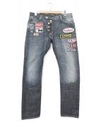 DSQUARED2(ディースクエアード)の古着「モーターワッペンデニムパンツ」|インディゴ