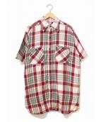 PILGRIM(ピルグリム)の古着「[古着]ヴィンテージS/Sチェックネルシャツ」|レッド