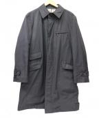 BURBERRY BLACK LABEL()の古着「ナイロンステンカラーコート」 ブラック