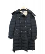 BURBERRY BRIT(バーバリーブリット)の古着「ライナーチェックダウンコート」|ブラック