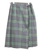 ONEILL(オニール)の古着「キルトラップスカート」|グリーン