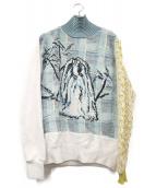 Jenny Fax(ジェニーファックス)の古着「異素材スウェット」 ブルー
