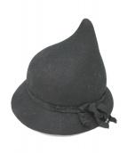 YOHJI YAMAMOTO(ヤマモトヨウジ)の古着「Small Pointed Hat」 ブラック