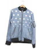 GUILD PRIME(ギルドプライム)の古着「スターテンセルMA-1ジャケット」|ブルー