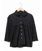 tricot COMME des GARCONS()の古着「後染めギャザーブラウス」|ブラック