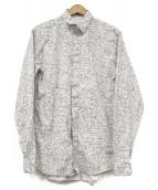 Dior Homme(ディオールオム)の古着「ノイズ総柄シャツ」|ホワイト