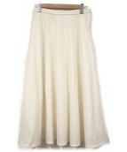 TOMORROW LAND(トゥモローランド)の古着「ウールフラノサーキュラースカート」|ホワイト