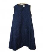 IENA()の古着「サイドラインレースワンピース」 ブルー