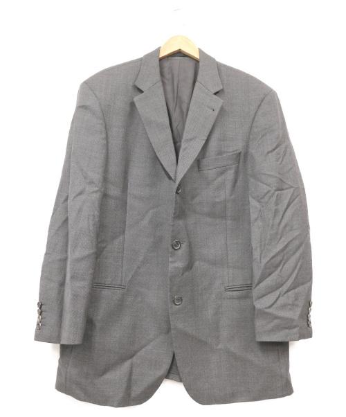 BOSS HUGO BOSS(ボスヒューゴボス)BOSS HUGO BOSS (ボス ヒューゴ ボス) テーラードジャケット ブラック サイズ:52 伊GUABELLO社製生地の古着・服飾アイテム