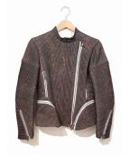 3.1 phillip lim(スリーワンフィリップリム)の古着「シルクライダースジャケット」|グレー