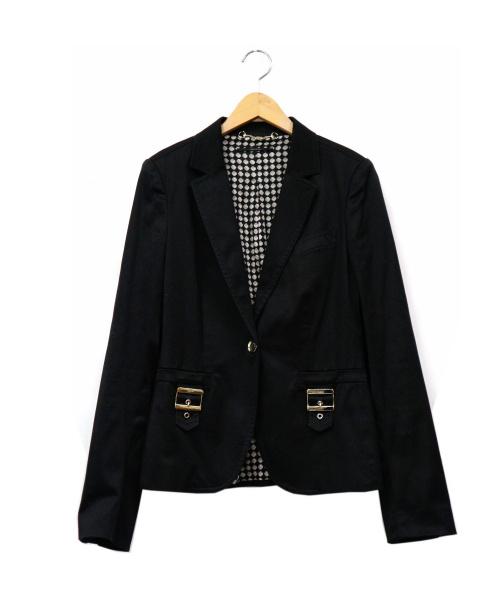 GUCCI(グッチ)GUCCI (グッチ) テーラードジャケット ブラック サイズ:42 イタリア製の古着・服飾アイテム