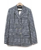 MaxMara(マックスマーラー)の古着「スタープリントジャケット」|ネイビー