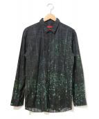 HUGO BOSS(ヒューゴボス)の古着「デザインシャツ」|ブルー