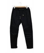 BALMAIN(バルマン)の古着「ジップ裾バイカーパンツ」|ブラック