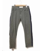 MARNI(マルニ)の古着「ウール切替デニムパンツ」|ブルー×グレー