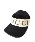 GUCCI(グッチ)の古着「ヘアバンド付キャップ」|ブラック