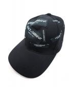 DOLCE & GABBANA(ドルチェアンドガッバーナ)の古着「ブランドタグパッチキャップ」|ブラック
