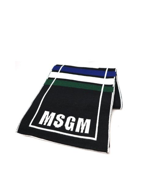 MSGM(エムエスジーエム)MSGM (エムエスジーエム) マフラー ブラックの古着・服飾アイテム