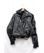 JUNYA WATANABE CDG(ジュンヤワタナベコムデギャルソン)の古着「再構築デザインライダースジャケット」 ブラック