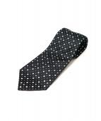 CHANEL(シャネル)の古着「ココマーク総柄ネクタイ」 ブラック