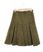 MaxMara(マックスマーラ)の古着「ツイードスカート」|イエロー