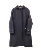 YOSHI KONDO(ヨシコンドウ)の古着「ステンカラーコート」|ネイビー