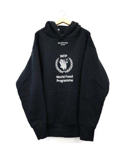 BALENCIAGA(バレンシアガ)BALENCIAGA (バレンシアガ) WFPプルオーバーパーカー ブラック サイズ:XS UP57 2018 00638 ポルトガル製の古着・服飾アイテム
