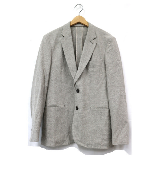Paul Smith(ポールスミス)Paul Smith (ポールスミス) シアサッカーテーラードジャケット グレー サイズ:L 日本製 スーツの古着・服飾アイテム