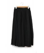 CELINE(セリーヌ)の古着「シルク裏地プリーツスカート」 ブラック