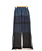 TAN(タン)の古着「ニットパンツ」 ブルー