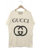 GUCCI(グッチ)の古着「インターロッキングGプリントTシャツ」 ベージュ