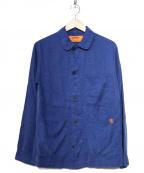 UNIVERSAL OVERALL()の古着「後染めライトカバーオール」 ブルー