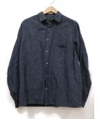 FRANK LEDER(フランクリーダ)の古着「インディゴ染シャツ」 ネイビー