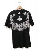 Vivienne Westwood man(ヴィヴィアンウエストウッドマン)の古着「フラワーオーブプリントTシャツ」|ブラック