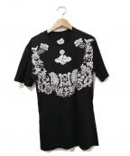 Vivienne Westwood man()の古着「フラワーオーブプリントTシャツ」 ブラック