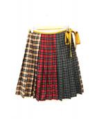 Lois CRAYON(ロイスクレヨン)の古着「プリーツスカート」|ランダムチェック