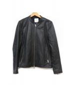 UNITED TOKYO(ユナイテッドトウキョウ)の古着「シングルラムライダースジャケット」|ブラック