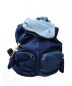 SEE BY CHLOE(シーバイクロエ)の古着「デニムリュック」 ブルー