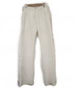 ARMANI COLLEZIONI()の古着「シアサッカーテーパードパンツ」|ホワイト